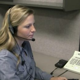 phone operator at work
