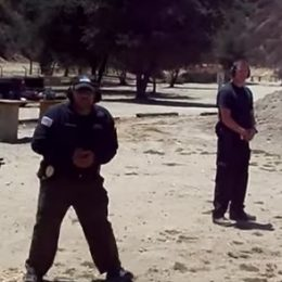 security guards at firing range