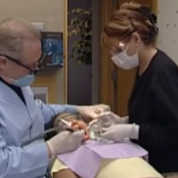 cleaning a patient's mouth